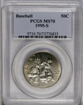 Modern Issues: , 1995-S 50C Olympic/Baseball Half Dollar MS70 PCGS. PCGS Population (40/0). NGC Census: (147/0). Numismedia Wsl. Price: $30...