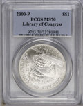 Modern Issues: , 2000-P $1 Library of Congress Silver Dollar MS70 PCGS. PCGS Population (28/0). Numismedia Wsl. Price: $...