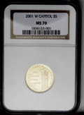 Modern Issues: , 2001-W $5 Capitol Visitor's Center MS70 NGC. PCGS Population (60/0). Numismedia Wsl. Price: $700....