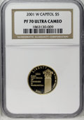 2001-W $5 Capitol Visitor's Center PR70 Deep Cameo NGC. NGC Census: (0/0). PCGS Population (40/0). Numismedia Wsl. Price...