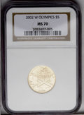 Modern Issues: , 2002-W $5 Olympics Half Eagle MS70 NGC. PCGS Population (74/0). Numismedia Wsl. Price: $500. (#99799)...