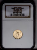 Modern Bullion Coins: , 1998 G$5 Tenth-Ounce Gold Eagle MS70 NGC. NGC Census: (1368/0). PCGS Population (53/0). Numismedia Wsl. Price: $400. (#993...
