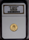 Modern Bullion Coins: , 2001 G$5 Tenth-Ounce Gold Eagle MS70 NGC. PCGS Population (27/0). Numismedia Wsl. Price: $140. (#9955)...
