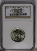 Errors: , 2000-P 25C South Carolina Statehood Quarter--10% Off Center--MS63 NGC. (#5958)...