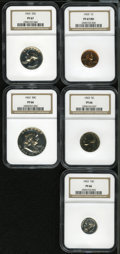 1963 1C cent PR67 Red NGC; 1963 nickel PR66 NGC; 1963 dime PR66 NGC; 1963 quarter PR67 NGC and a 1963 half dollar PR66 N...