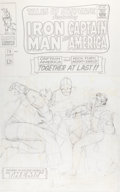 Original Comic Art:Covers, Jack Kirby Tales of Suspense #78 Unpublished AlternateCaptain America and Nick Fury Cover Pencils Ori...