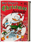 Golden Age (1938-1955):Miscellaneous, Dell Giant Comics: Christmas Parade and Vacation Parade Bound Volume Signed by Carl Barks (Dell, 1949-51)....
