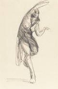 Fine Art - Work on Paper, ROBERT HENRI (American, 1865-1929). Isadora Duncan and Atthe Opera (two works), 1904. Conte crayon on paper; charco...(Total: 2 Items)