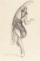 ROBERT HENRI (American, 1865-1929) Isadora Duncan and At the Opera (two works), 1904 Conte crayon on paper; charco... (T...
