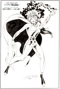"""Jim Lee (Over a Lightboxed Jack Kirby Drawing) Phantom Force #2 """"The Once and Future Probe"""" Bonus Pin-Up Illus..."""