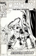 Original Comic Art:Covers, Keith Pollard and Mark McKenna Micronauts: The New Voyages#18 Cover Original Art (Marvel, 1986).... (Total: 3 Items)