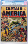 Golden Age (1938-1955):Superhero, Captain America Comics #3 (Timely, 1941) CGC VG- 3.5 Off-white pages....