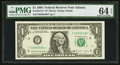 Fr. 1914-F* $1 1988 Federal Reserve Note. PMG Choice Uncirculated 64 EPQ