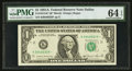 Fr. 1912-K* $1 1981A Federal Reserve Note. PMG Choice Uncirculated 64 EPQ