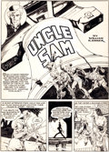 Original Comic Art:Complete Story, Will Eisner and Lou Fine National Comics #13 Complete 9-PageUncle Sam Story Original Art (Quality, 1941).... (Total: 9 OriginalArt)
