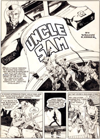 Will Eisner and Lou Fine National Comics #13 Complete 9-Page Uncle Sam Story Original Art (Quality, 1941).... (Total: 9...