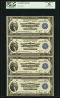 Fr. 712 $1 1918 Federal Reserve Bank Notes Reconstructed Sheet of Four PCGS Apparent Choice About New 58