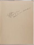 Books:Photography, Berenice Abbott. INSCRIBED. Photographs. Horizon Press, 1970. Inscribed and signed by the author. Dust jacket. F...