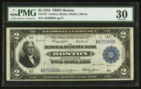 Fr. 747 $2 1918 Federal Reserve Bank Note PMG Very Fine 30