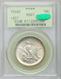 Commemorative Silver: , 1937 50C Texas MS67 PCGS. CAC. PCGS Population (97/2). NGC Census:(68/7). Mintage: 6,571. Numismedia Wsl. Price for proble...