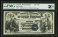 National Bank Notes:Pennsylvania, Cresson, PA - $20 1882 Value Back Fr. 581 The First NB Ch. # (E)5768. ...