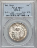 1936-D 50C San Diego MS67 PCGS. PCGS Population (78/0). NGC Census: (45/2). Mintage: 30,092. Numismedia Wsl. Price for p...