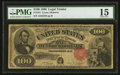 Large Size:Legal Tender Notes, Fr. 181 $100 1880 Legal Tender PMG Choice Fine 15.. ...