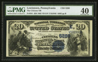 Lewistown, PA - $20 1882 Value Back Fr. 581 The Citizens NB Ch. # (E)5289