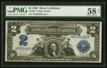 Large Size:Silver Certificates, Fr. 256 $2 1899 Silver Certificate PMG Choice About Uncirculated 58 EPQ.. ...