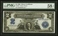 Fr. 256 $2 1899 Silver Certificate PMG Choice About Uncirculated 58 EPQ