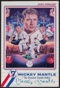 Baseball Collectibles:Photos, Mickey Mantle Signed Oversized Card....