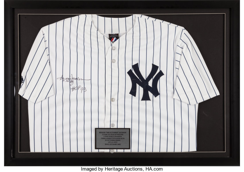 huge sale 167c0 fe8c1 Reggie Jackson Signed New York Yankees Jersey.... Baseball ...