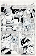 Original Comic Art:Panel Pages, Jack Kirby, Werner Roth, and Dick Ayers X-Men #15 SentinelsPage 8 Original Art (Marvel, 1965)....