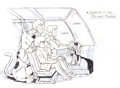 Animation Art:Production Drawing, Scooby-Doo, Where Are You? Scooby, Shaggy, Velma, Daphne,and Freddy in the Mystery Machine Production Drawing (Hanna-...