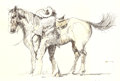Animation Art:Production Drawing, Fred Crippen Western Scene Original Art (1978)....