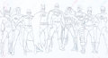 Animation Art:Production Drawing, Super Powers Team: Galactic Guardians Production Drawing(Hanna-Barbera, 1985)....