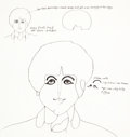 animation art:Model Sheet, Yellow Submarine Paul McCartney Model Sheet (UnitedArtists/King Features, 1968)....