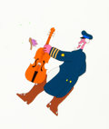 Animation Art:Production Cel, Yellow Submarine Old Fred Production Cel and Drawing (UnitedArtists/King Features, 1968).... (Total: 2 )