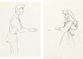 Animation Art:Production Drawing, Sleeping Beauty Briar Rose and Phillip Production DrawingGroup (Walt Disney, 1959).... (Total: 2 Items)