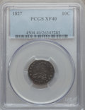 Bust Dimes: , 1827 10C XF40 PCGS. PCGS Population (30/226). NGC Census: (10/240).Mintage: 1,300,000. Numismedia Wsl. Price for problem f...