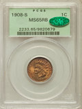1908-S 1C MS65 Red and Brown PCGS. CAC....(PCGS# 2233)
