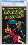 Golden Age (1938-1955):Science Fiction, Mystery in Space #1 (DC, 1951) CGC VG+ 4.5 Off-white to whitepages....
