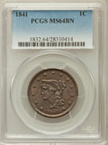 Large Cents, 1841 1C MS64 Brown PCGS. N-6, R.1....