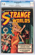 Golden Age (1938-1955):Science Fiction, Strange Worlds #4 (Avon, 1951) CGC FN/VF 7.0 Off-white pages....