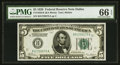 Small Size:Federal Reserve Notes, Fr. 1950-K $5 1928 Federal Reserve Note. PMG Gem Uncirculated 66 EPQ.. ...