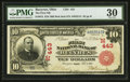 National Bank Notes:Ohio, Bucyrus, OH - $10 1902 Red Seal Fr. 613 The First NB Ch. # (M)443. ...