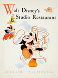 Animation Art:Poster, Walt Disney's Studio Restaurant Menu (Walt Disney, c. 1940s)....