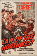 "Movie Posters:Western, Law of the Northwest (Columbia, 1943). One Sheet (27"" X 41""). Western.. ..."