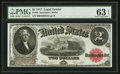Large Size:Legal Tender Notes, Fr. 60 $2 1917 Legal Tender PMG Choice Uncirculated 63 EPQ.. ...