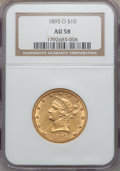 Liberty Eagles: , 1895-O $10 AU58 NGC. NGC Census: (222/332). PCGS Population(97/257). Mintage: 98,000. Numismedia Wsl. Price for problem fr...